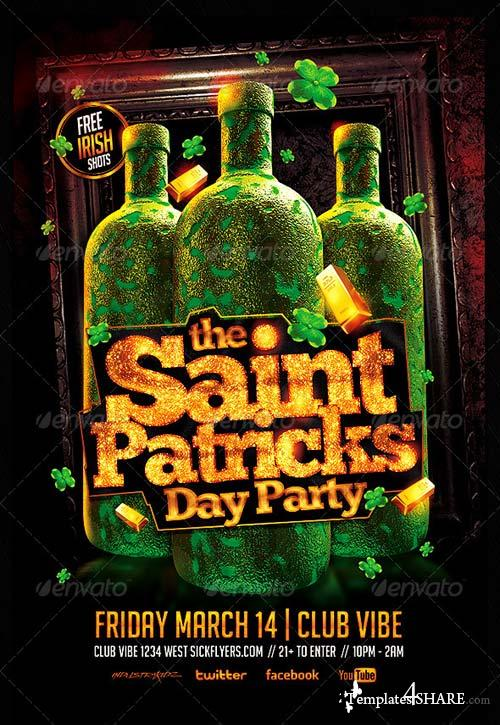 GraphicRiver St. Patricks Day Party Flyer PSD