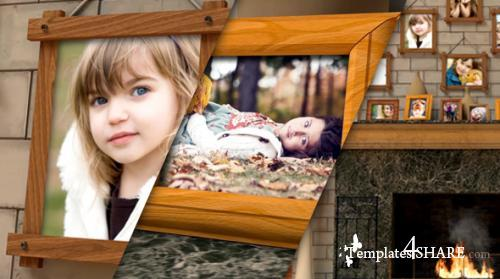 Fireplace Warm Photo Memories - After Effects Project (Videohive)