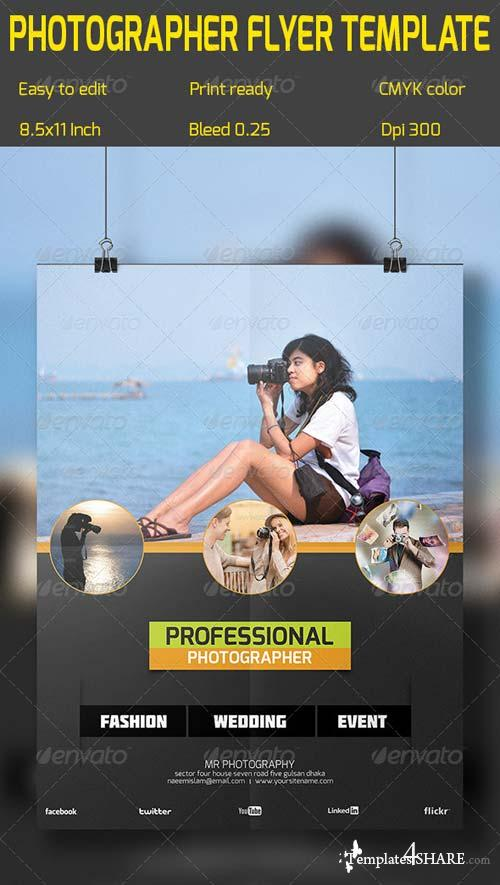 GraphicRiver Photographer Flyer Template