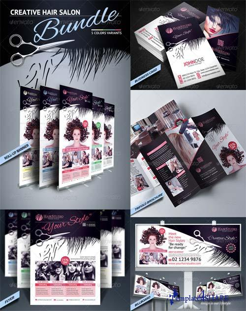 GraphicRiver Hair Salon Bundle