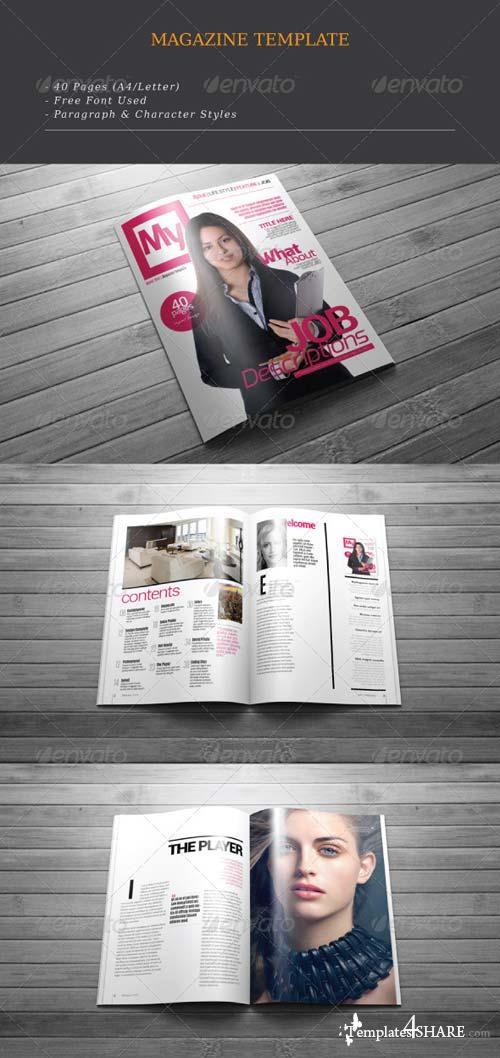 GraphicRiver MyGazine A4/Letter Magazine Template