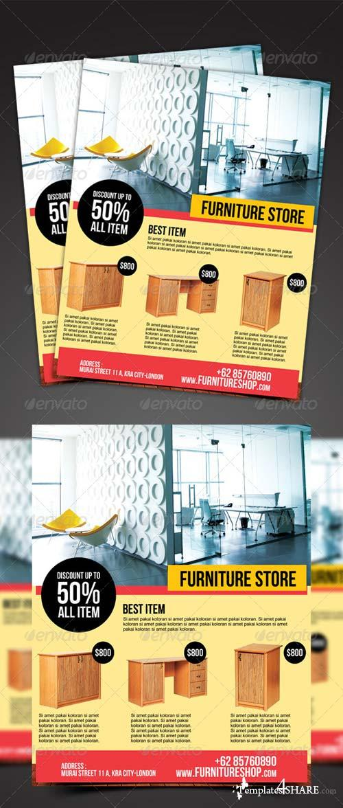 GraphicRiver Furniture Store Flyer