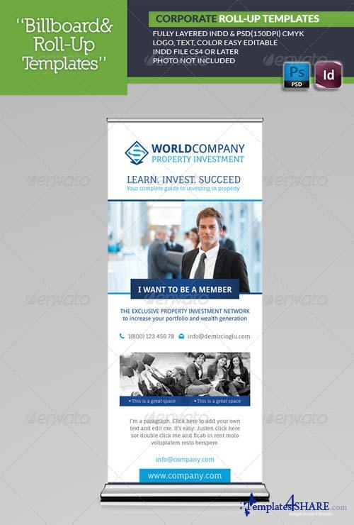 GraphicRiver Corporate Roll-Up Templates