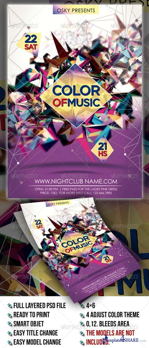 GraphicRiver Color Of Music