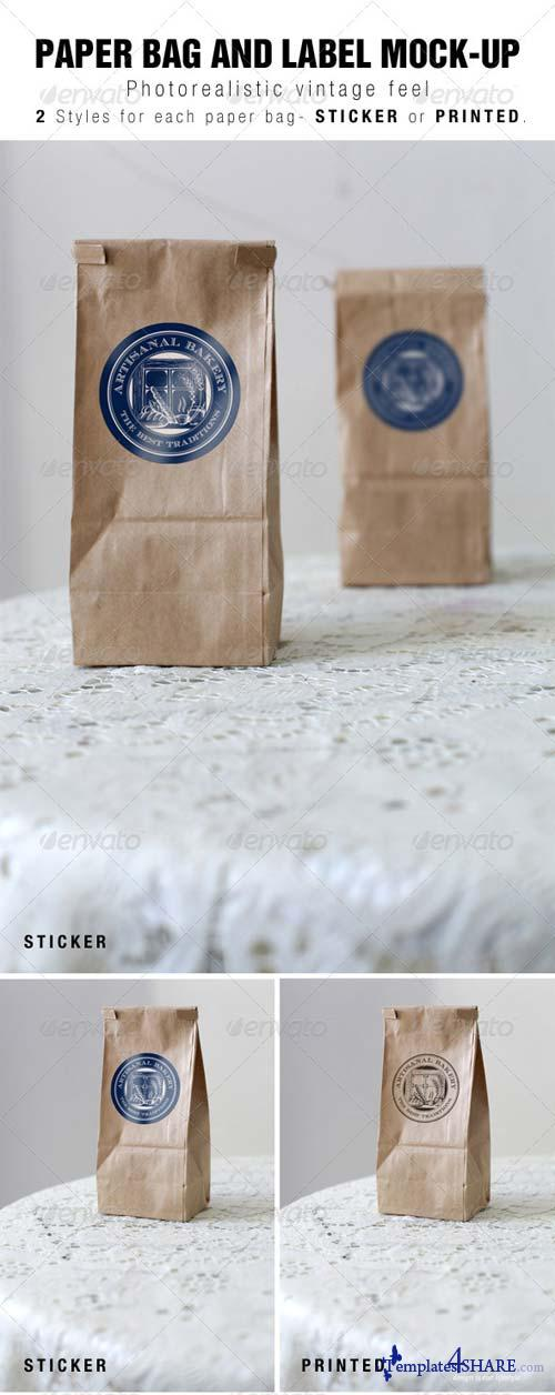 GraphicRiver Paper Bag and Label Mock-up