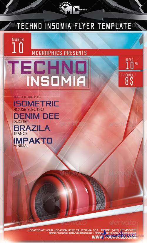 GraphicRiver Techno Insomia Flyer Template