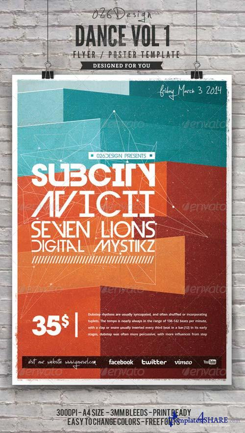 GraphicRiver Dance Poster / Flyer Vol 1