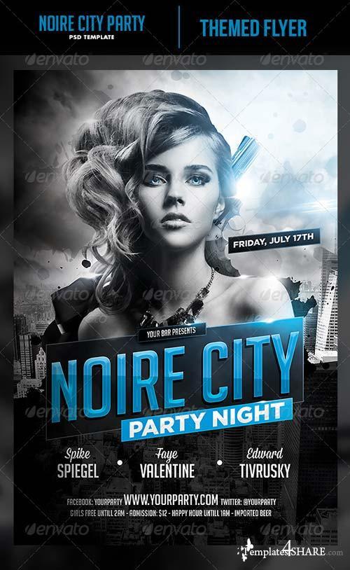 GraphicRiver Noire City Party Flyer Template