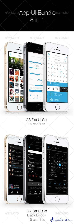 GraphicRiver App UI Bundle 8 in 1