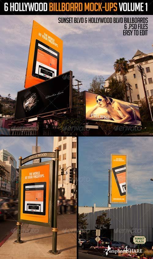 GraphicRiver 6 Hollywood Billboard Mock-Ups Volume 1