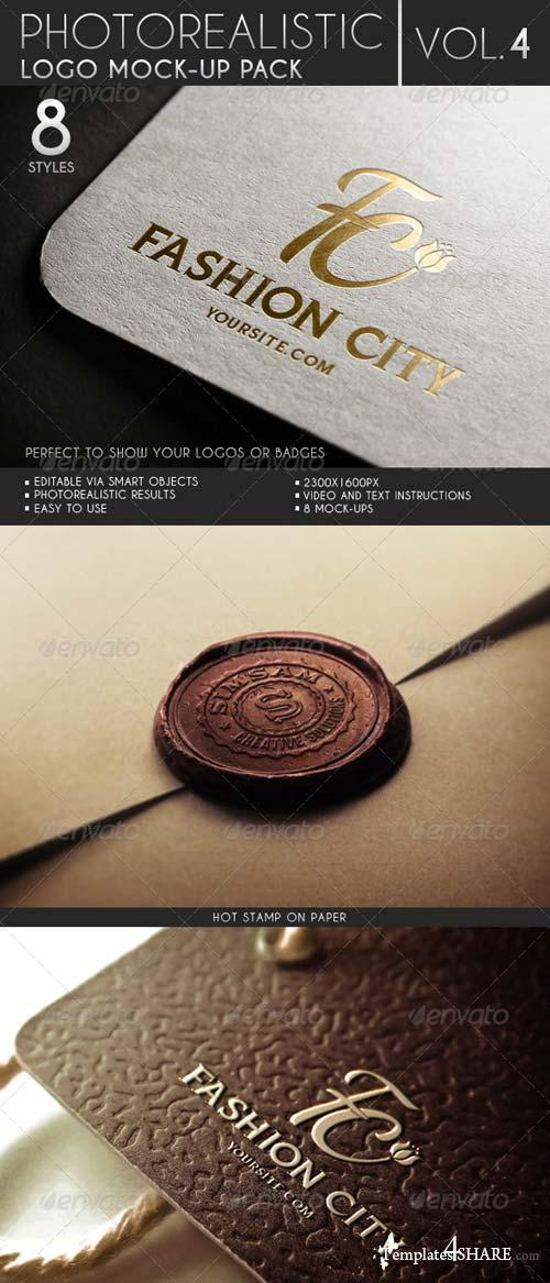 GraphicRiver Photorealistic Logo Mock-Up Pack Vol.4