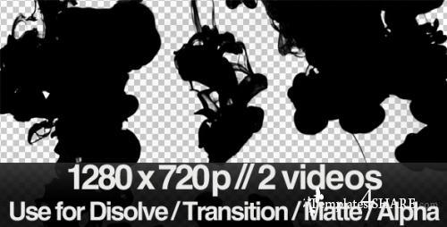 2 Ink Flowing in Water Transition / Matte / Mask - After Effects Motion Graphics (Videohive)