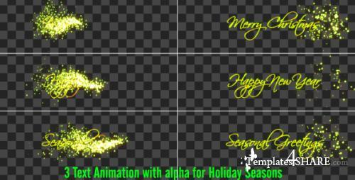 Christmas Texts Pack - After Effects Motion Graphics (Videohive)