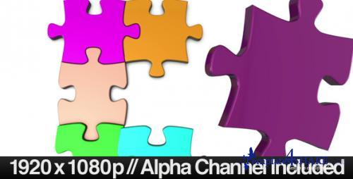Colorful Jigsaw Puzzle Coming Together - After Effects Motion Graphics (Videohive)