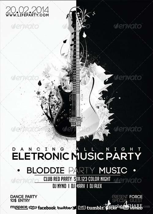GraphicRiver Electronic Music Party Flyer