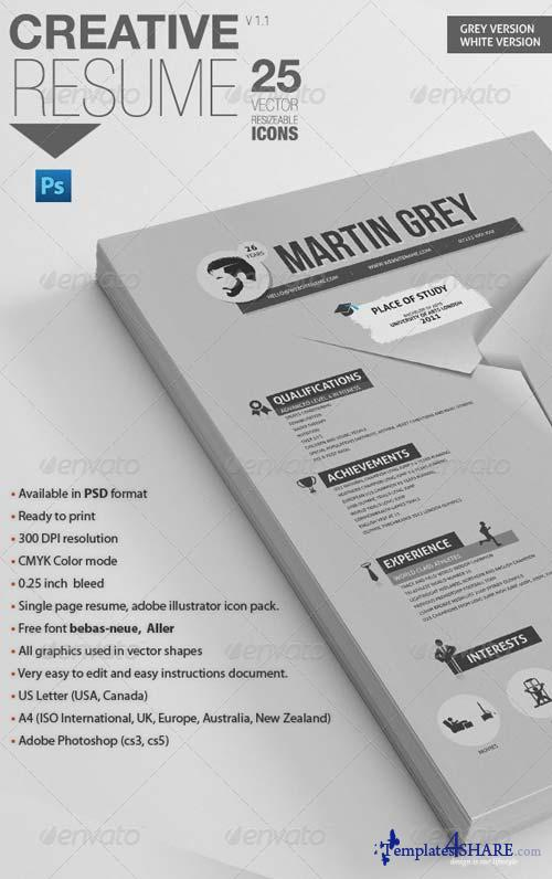 GraphicRiver Professional Resume | For Personal Trainers