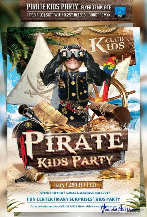 GraphicRiver Pirate Kids Party Flyer Template 6913284