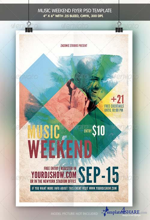 GraphicRiver Music Weekend
