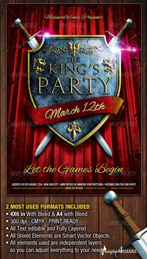 GraphicRiver The King's Party Flyer