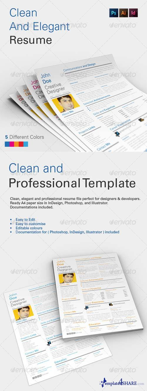 GraphicRiver Clean and Elegant Resume V1.0