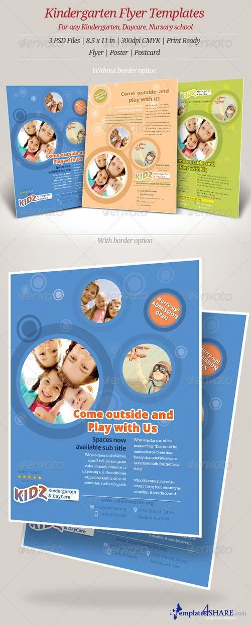 GraphicRiver Kindergarten Daycare Flyer Templates