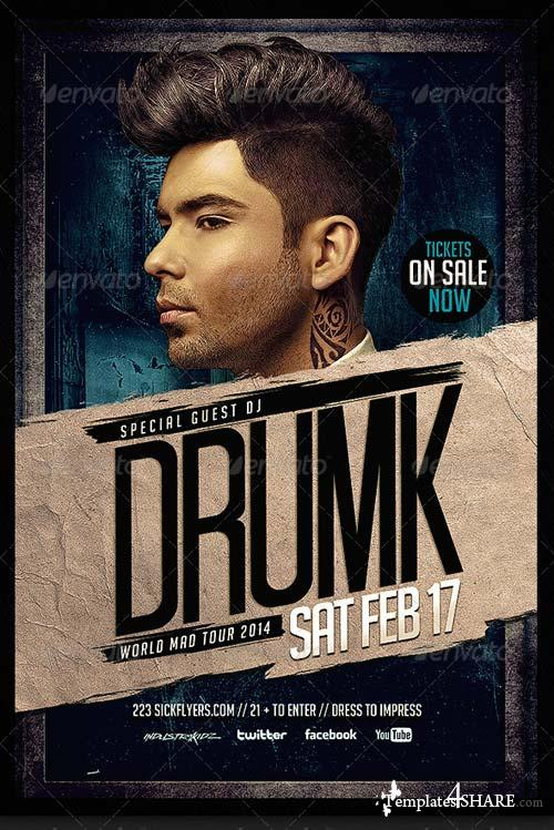GraphicRiver Dirty House Music Flyer Template