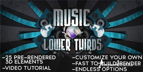 Music Lower Thirds - After Effects Project (Videohive)