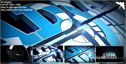 Radial Build Logo - After Effects Project (Videohive)