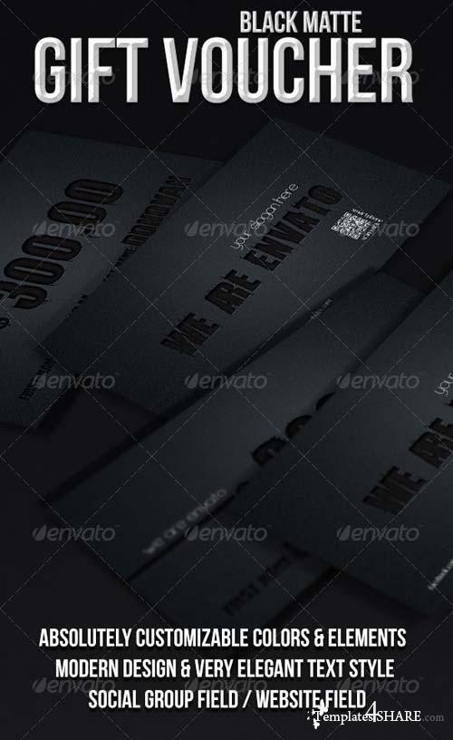 GraphicRiver Black Matte Gift Voucher
