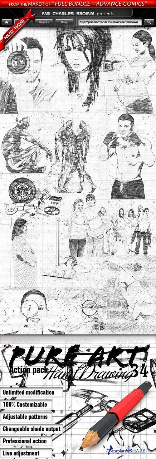 GraphicRiver Pure Art Hand Drawing 34 - Roman Chronological Art