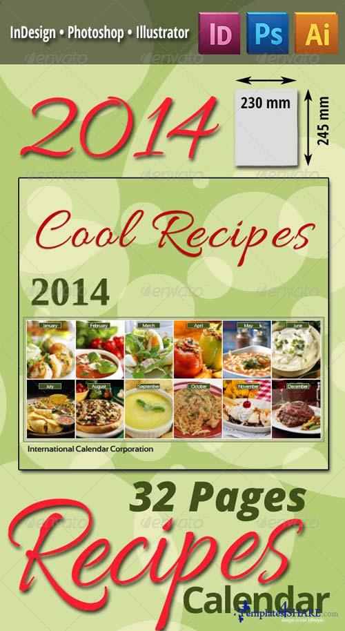 GraphicRiver 2014 Recipes Calendar