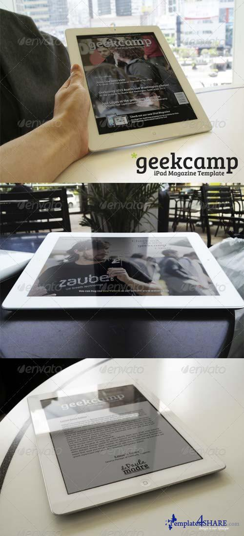 GraphicRiver Barcamp-Geekcamp iPad Magazine Template