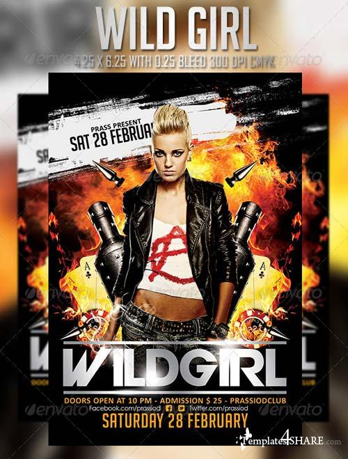 GraphicRiver Wild Girl Flyer Template