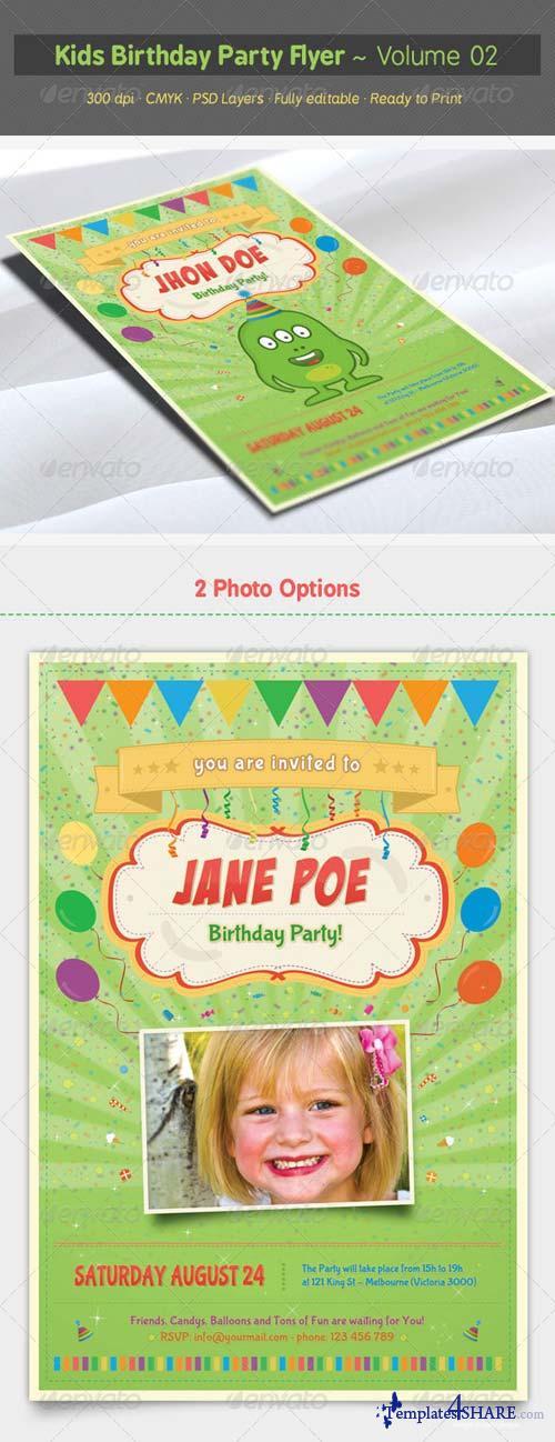 GraphicRiver Kids Birthday Party Flyer - Volume 02