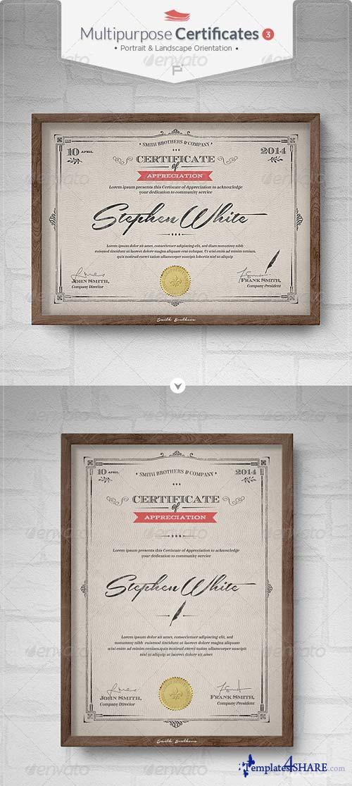 GraphicRiver Multipurpose Certificates III