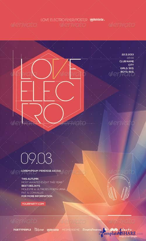 GraphicRiver Love Electro Poster/Flyer