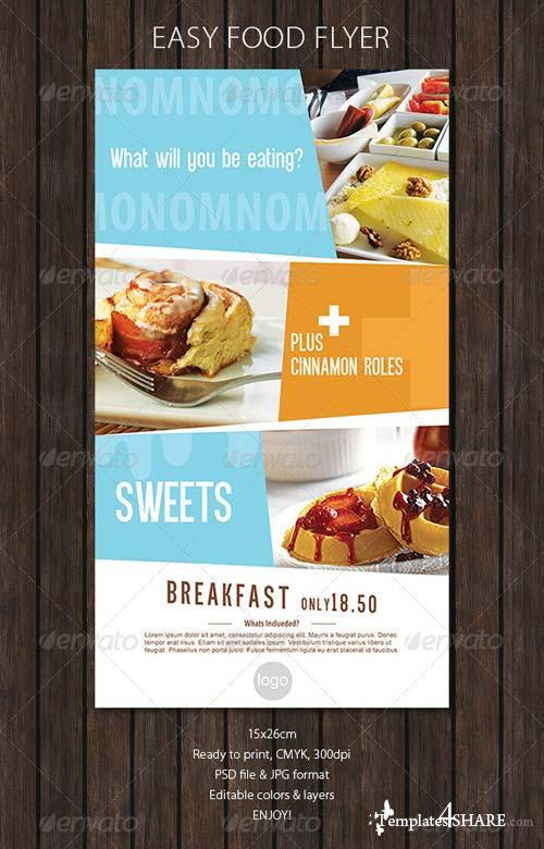 GraphicRiver Food Flyer with Soft Colors