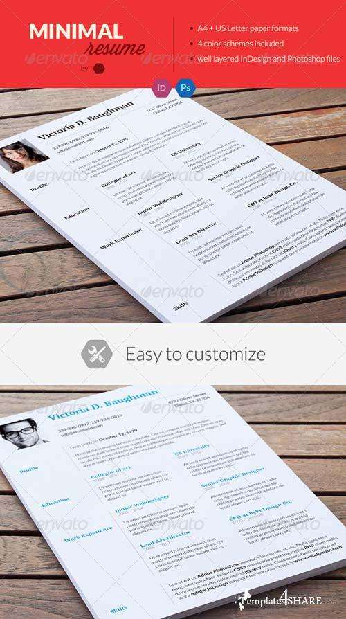 GraphicRiver Clean Resume / Minimal CV