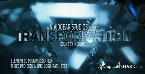 E3D Transform Text, Path, Logo - After Effects Project (Videohive)