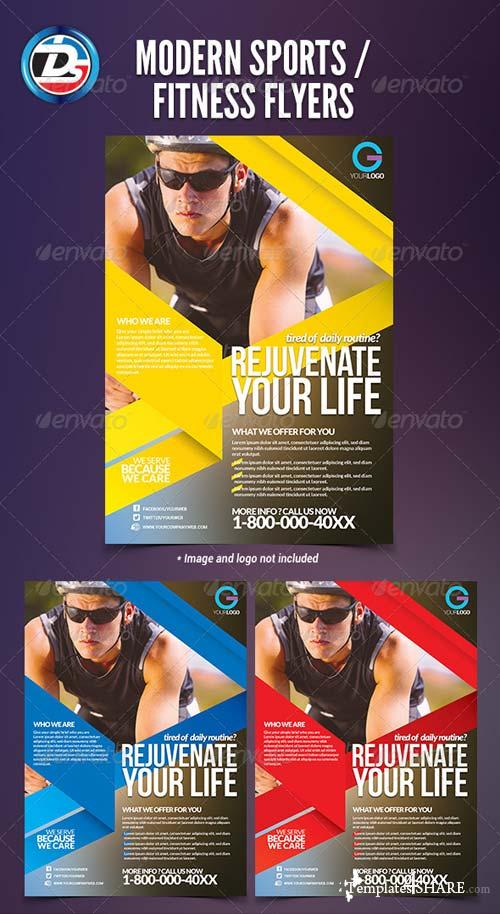 GraphicRiver Modern Sports / Fitness Flyers