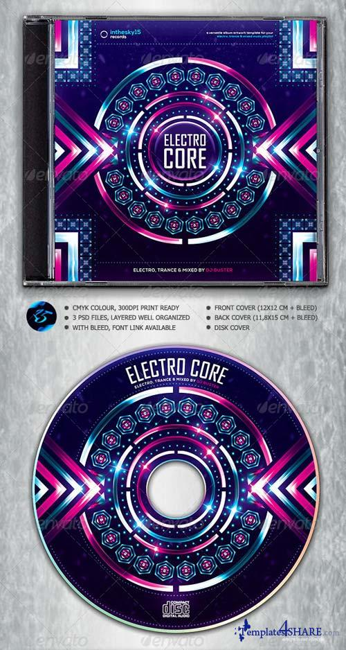 GraphicRiver Electro Core CD Album Artwork