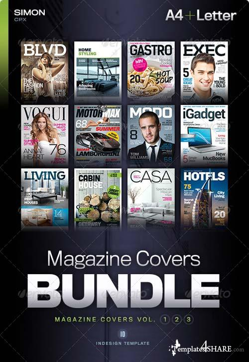 GraphicRiver Magazine Covers Bundle Vol. 1-2-3
