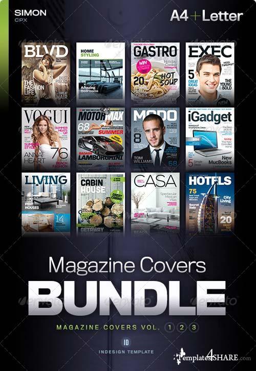 GraphicRiver Magazine Covers Bundle Vol. 1-2-3