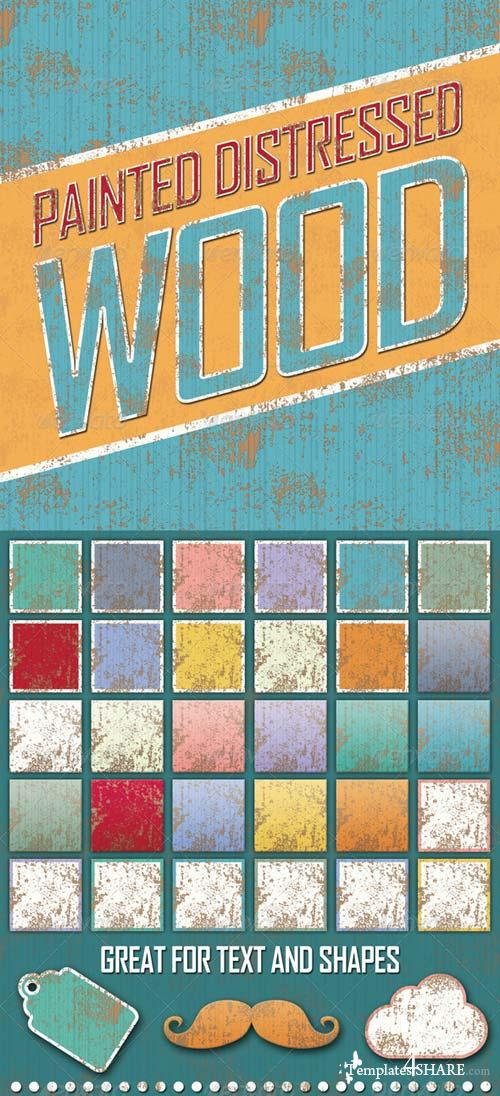 GraphicRiver Distressed Painted Wooden Styles
