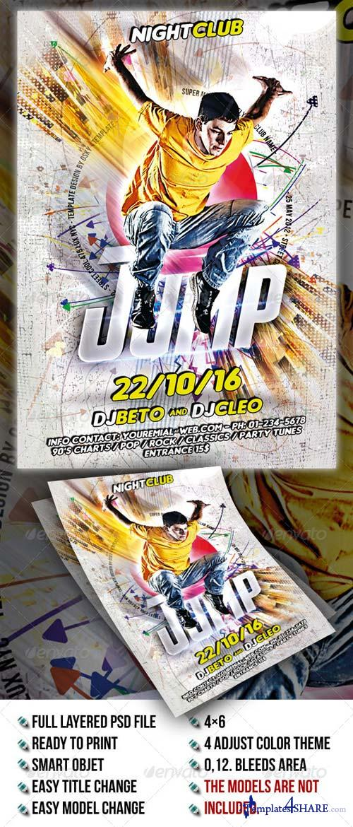 GraphicRiver Jump Party Flyer