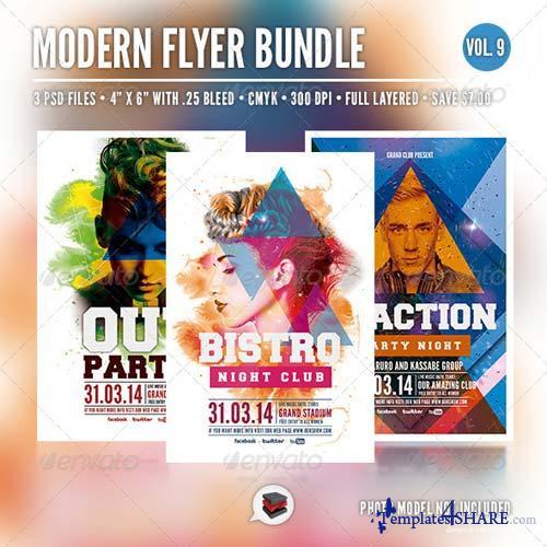 GraphicRiver Modern Flyer Bundle Vol. 9