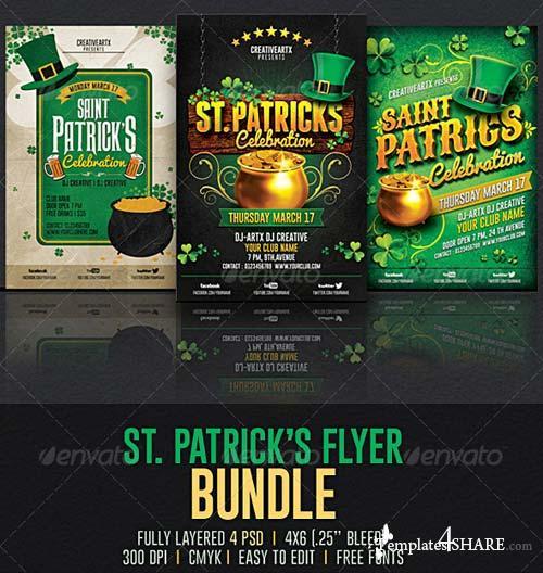 GraphicRiver St. Patrick's Flyer Bundle