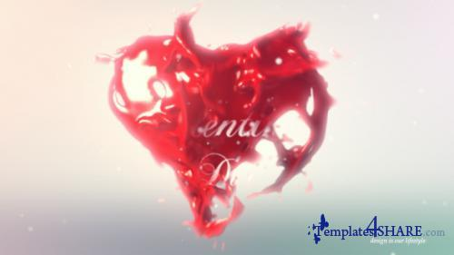 Valentines Heart Logo Reveal - After Effects Project (Videohive)