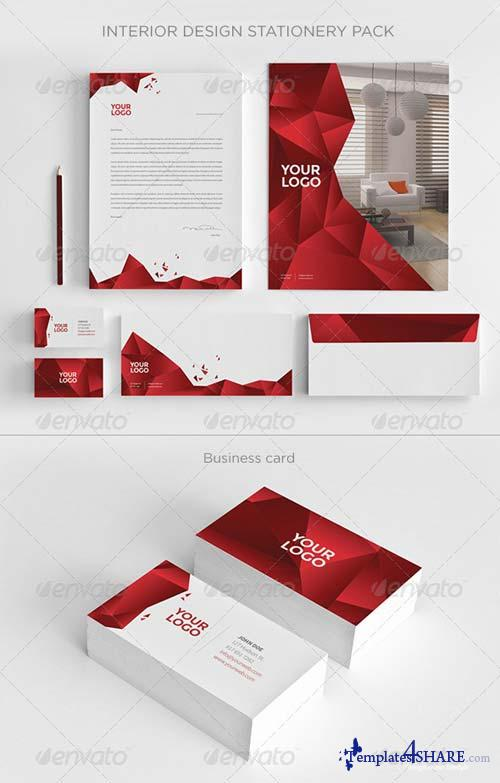 GraphicRiver Interior Design Stationery