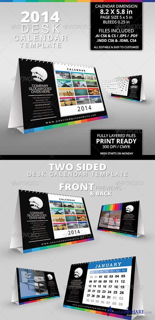 GraphicRiver 2014 Desk Calendar Template